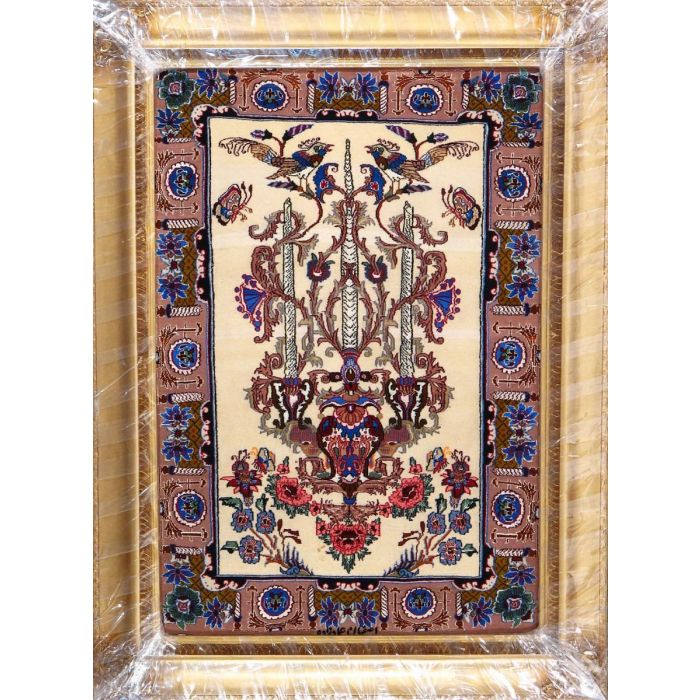 """https://www.armanrugs.com/   2' 4"""" x 3' 5""""  Esfahan Hand Knotted Wool & Silk Authentic Persian Rug"""