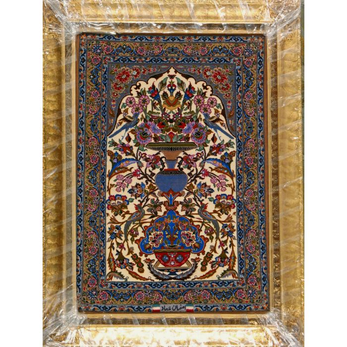 """https://www.armanrugs.com/   2' 2"""" x 3' 3""""  Esfahan Hand Knotted Wool & Silk Authentic Persian Rug"""