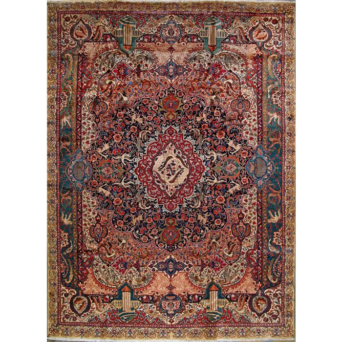 """https://www.armanrugs.com/   8' 0"""" x 11' 3"""" Blue kashmar Hand Knotted Wool Authentic Persian Rug"""
