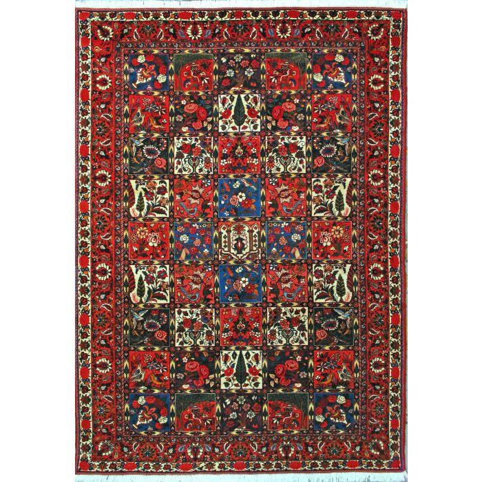 "https://www.armanrugs.com/ | 6' 10"" x 9' 10"" Red Bakhtiari Hand Knotted Wool Authentic Persian Rug"