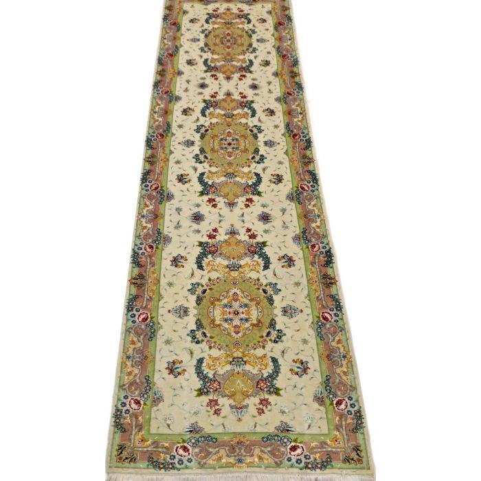 "https://www.armanrugs.com/ | 2' 8"" x 10' 2"" Beige Tabriz Hand Knotted Wool & Silk Authentic Persian Rug"
