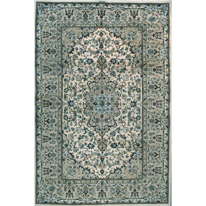 "https://www.armanrugs.com/ | 6' 7"" x 10' 2"" Ivory Tabriz Hand Knotted Wool Authentic Persian Rug"