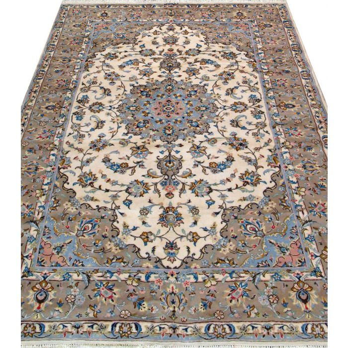 "https://www.armanrugs.com/ | 6' 7"" x 9' 6"" Beige Tabriz Hand Knotted Wool Authentic Persian Rug"