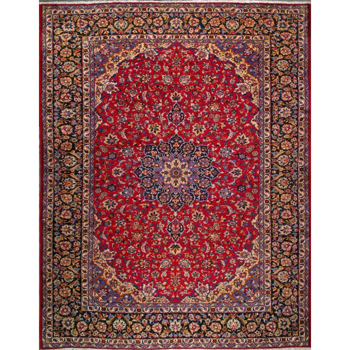 "https://www.armanrugs.com/ | 10' 0"" x 13' 1"" Red Esfahan Hand Knotted Wool Authentic Persian Rug"
