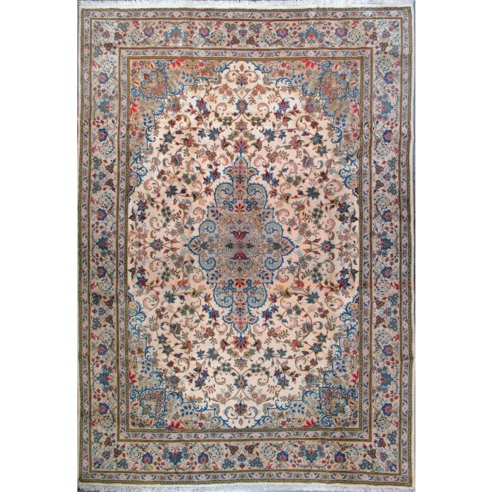"https://www.armanrugs.com/ | 8' 2"" x 11' 8"" Beige Tabriz Hand Knotted Wool Authentic Persian Rug"
