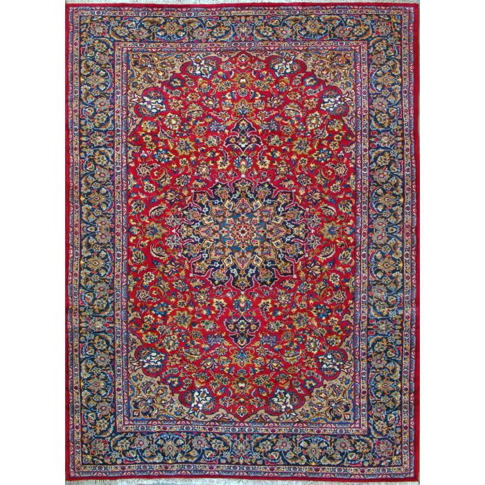 """https://www.armanrugs.com/   8' 6"""" x 11' 10"""" Red Esfahan Hand Knotted Wool Authentic Persian Rug"""