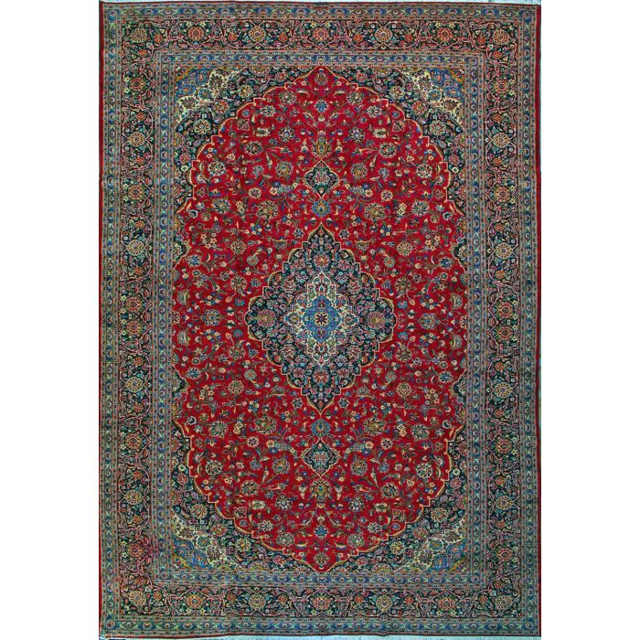 """https://www.armanrugs.com/   11' 6"""" x 17' 6"""" Red Kashan Hand Knotted Wool Authentic Persian Rug"""