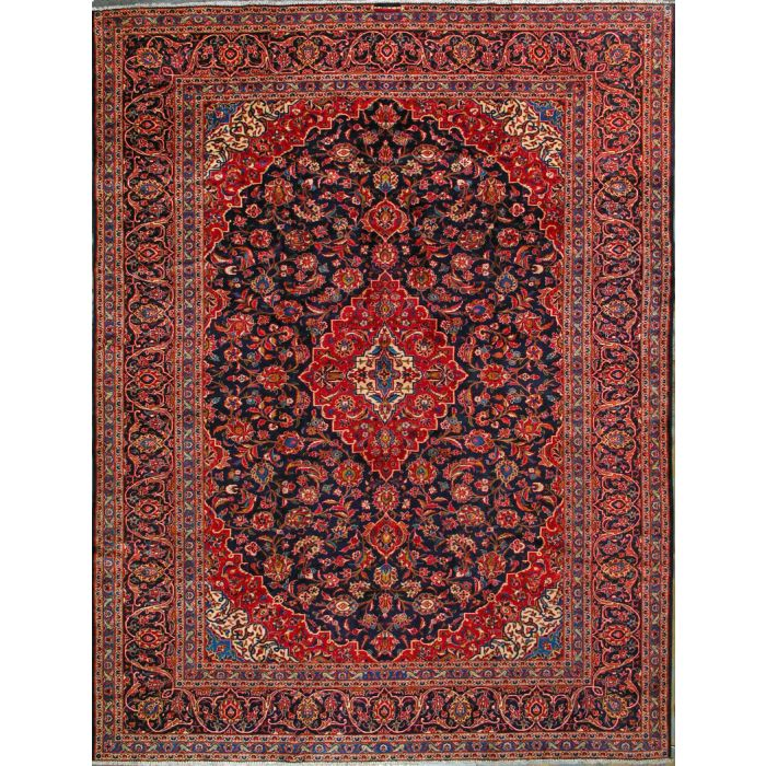 """https://www.armanrugs.com/   9' 10"""" x 13' 5"""" Red Kashan Hand Knotted Wool Authentic Persian Rug"""