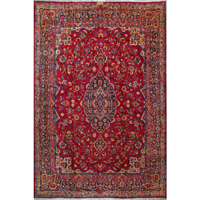 """https://www.armanrugs.com/   9' 6"""" x 14' 7"""" Red kerman Hand Knotted Wool Authentic Persian Rug"""