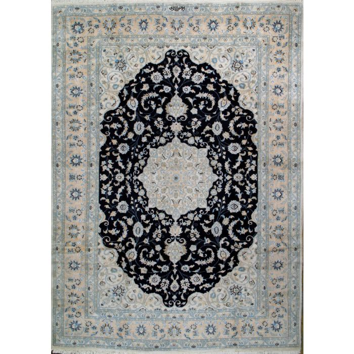 "https://www.armanrugs.com/ | 8' 2"" x 11' 8"" Beige Nain Hand Knotted Wool Authentic Persian Rug"