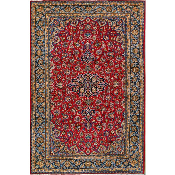 """https://www.armanrugs.com/   8' 0"""" x 12' 4"""" Red Esfahan Hand Knotted Wool Authentic Persian Rug"""