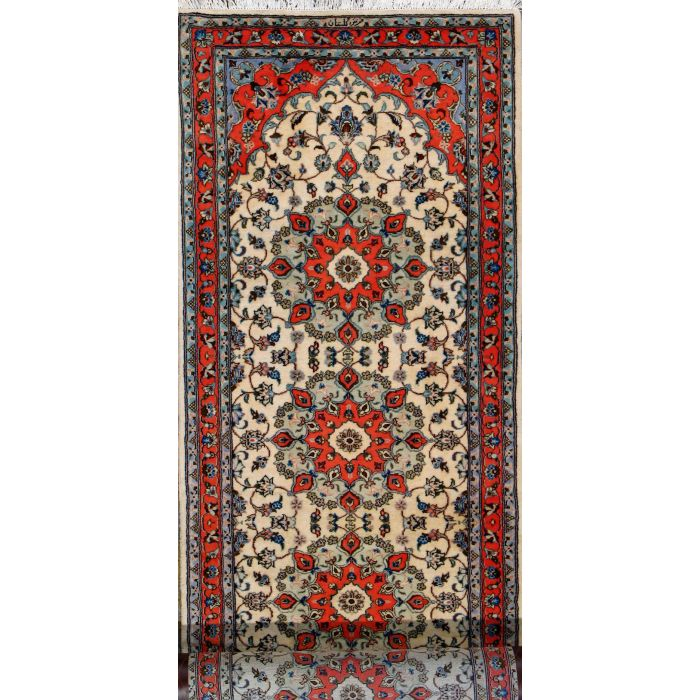 "https://www.armanrugs.com/ | 3' 3"" x 13' 1"" Beige Tabriz Hand Knotted Wool Authentic Persian Rug"