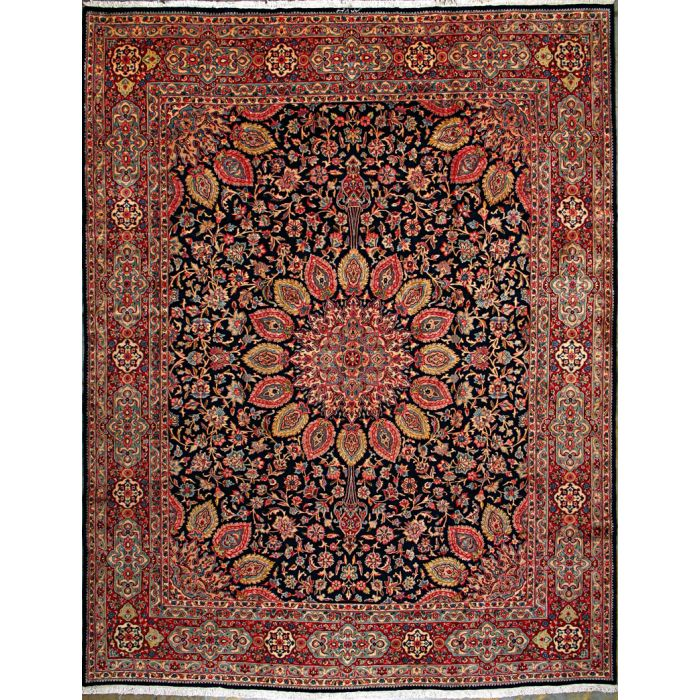 """https://www.armanrugs.com/   9' 10"""" x 13'  Red kerman Hand Knotted Wool Authentic Persian Rug"""