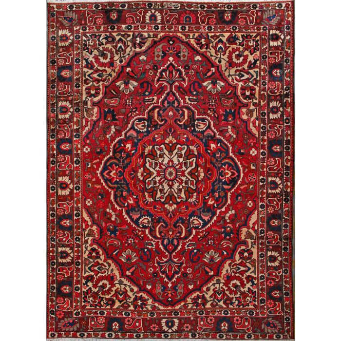 """https://www.armanrugs.com/   8' 6""""  x 11' 8"""" Red Bakhtiari Hand Knotted Wool Authentic Persian Rug"""