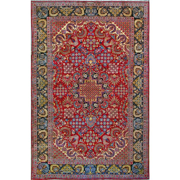 """https://www.armanrugs.com/   11' 0"""" x 17' 2"""" Red Esfahan Hand Knotted Wool Authentic Persian Rug"""