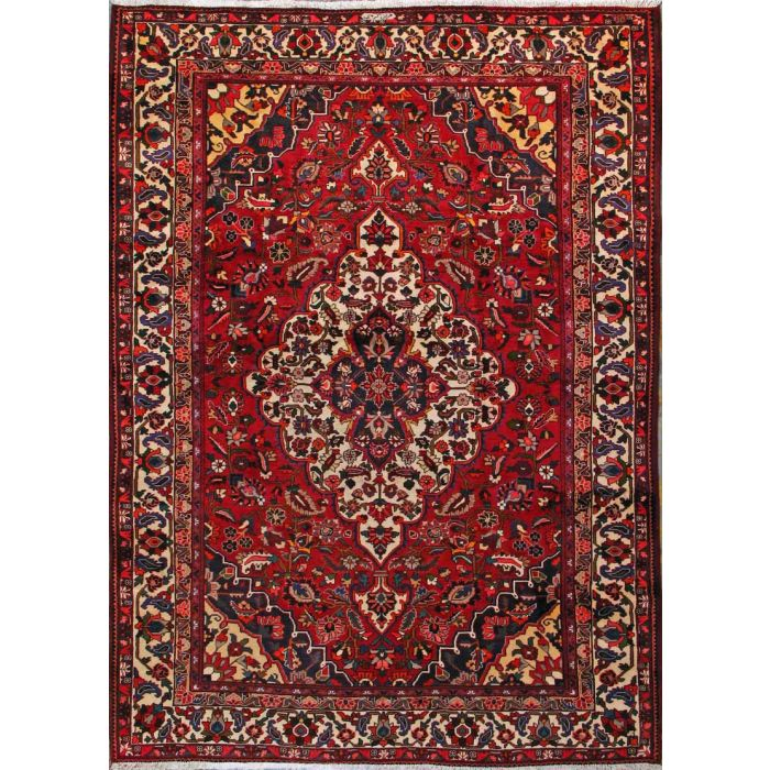 "https://www.armanrugs.com/ | 8' 4"" x 11' 8"" Red Bakhtiari Hand Knotted Wool Authentic Persian Rug"