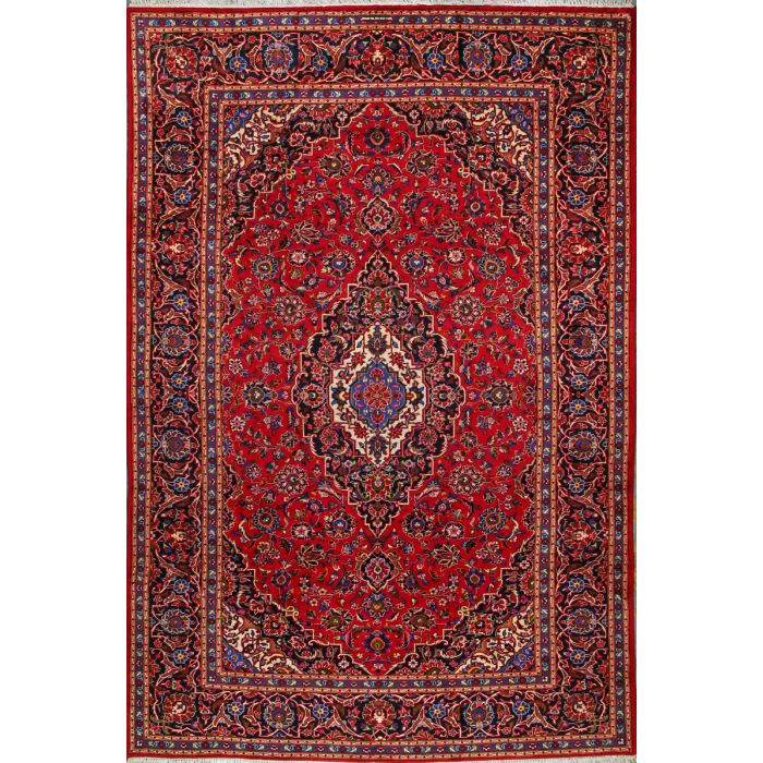 """https://www.armanrugs.com/   8' 2"""" x 12' 2"""" Red Kashan Hand Knotted Wool Authentic Persian Rug"""