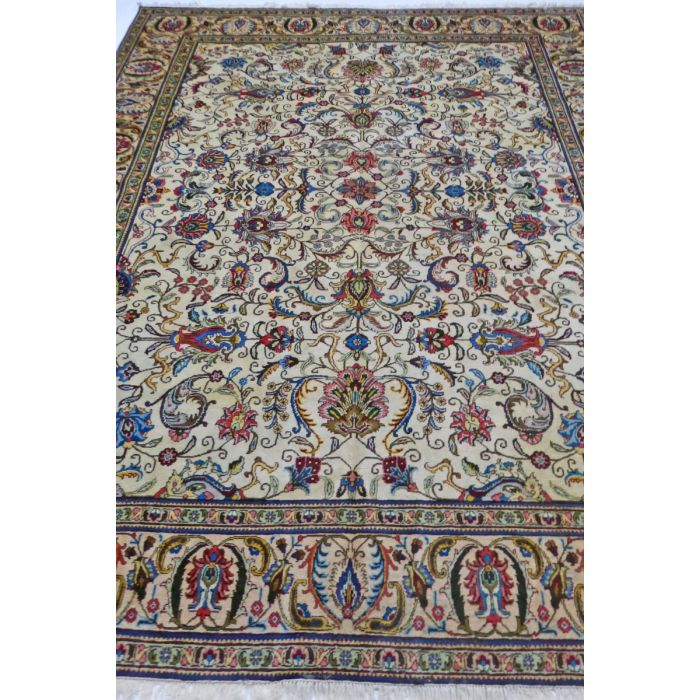 "https://www.armanrugs.com/ | 9' 7"" x 13' 3"" Beige Tabriz Hand Knotted Wool Authentic Persian Rug"