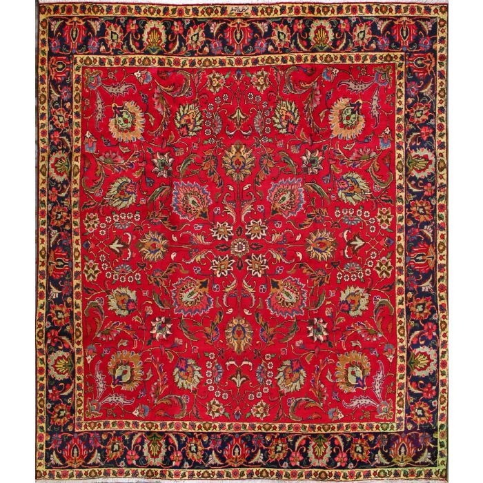 "https://www.armanrugs.com/ | 9' 11"" x 11' 6"" Red Tabriz Hand Knotted Wool Authentic Persian Rug"