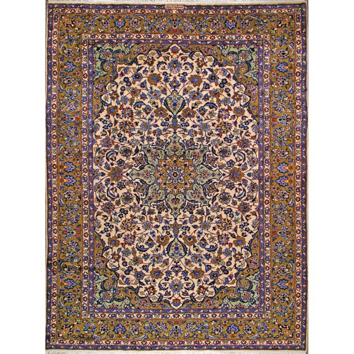 """https://www.armanrugs.com/   9' 3"""" x 12' 6"""" Ivory Esfahan Hand Knotted Wool Authentic Persian Rug"""