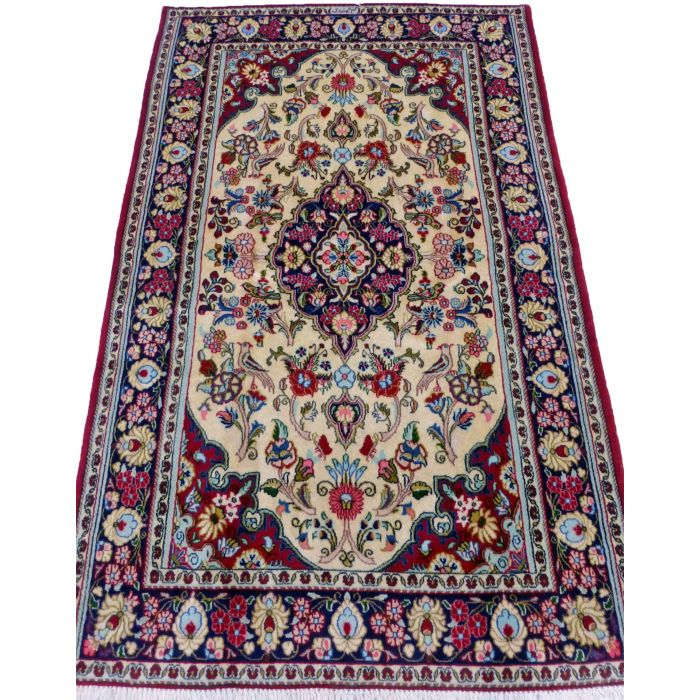 "https://www.armanrugs.com/ | 4' 3"" x 6' 7"" Red Qum Handmade Wool Authentic Persian Rug"
