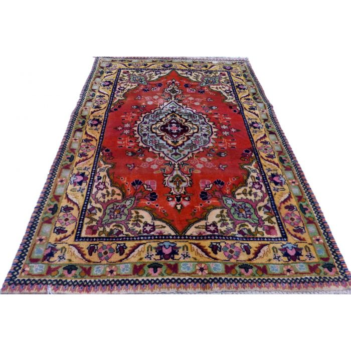 "https://www.armanrugs.com/ | 3' 3"" x 4' 10"" Beige Tabriz Handmade Wool Authentic Persian Rug"