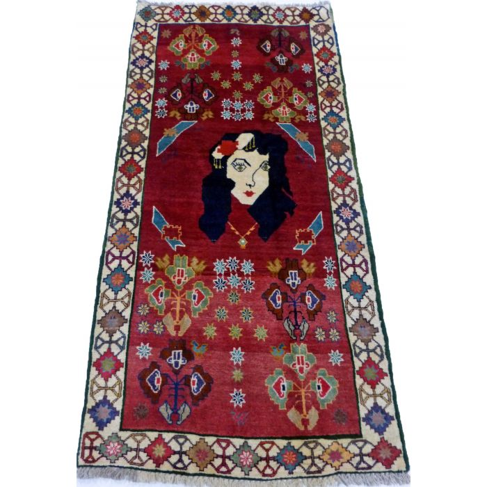 "https://www.armanrugs.com/ | 2' 11"" x 6' 3"" Red Shiraz Handmade Wool Authentic Persian Rug"