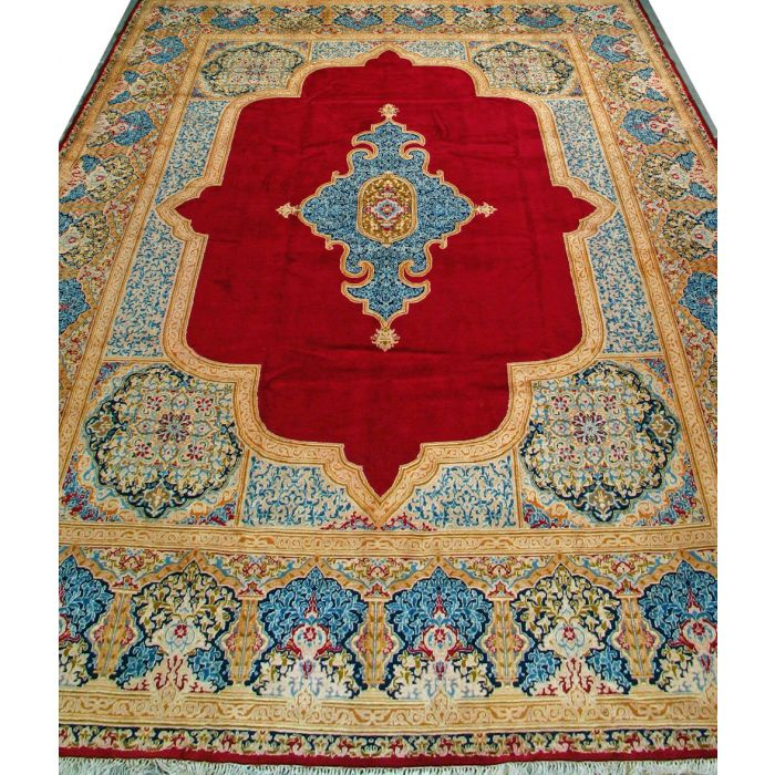 "https://www.armanrugs.com/ | 11' 9"" x 15' 11"" Red kerman Hand Knotted Wool Authentic Persian Rug"