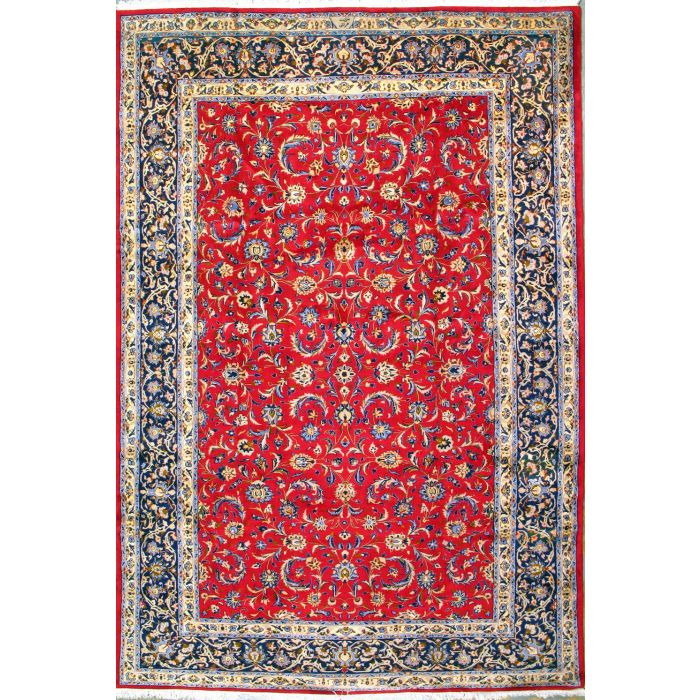 """https://www.armanrugs.com/   8' 2"""" x 12' 2"""" Red Esfahan Hand Knotted Wool Authentic Persian Rug"""