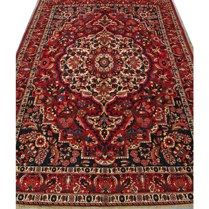"https://www.armanrugs.com/ | 7' 0"" x 10' 3"" Red Bakhtiari Hand Knotted Wool Authentic Persian Rug"