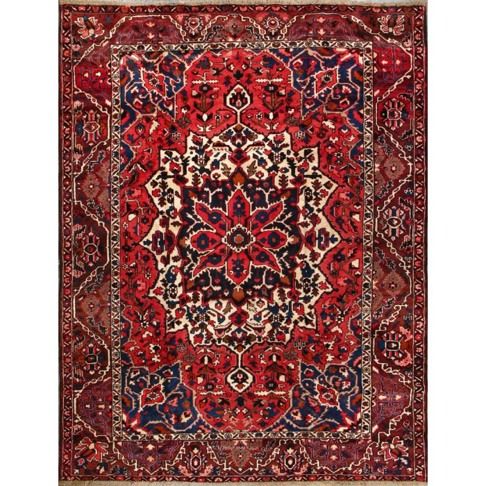"""https://www.armanrugs.com/   9' 2"""" x 11' 8"""" Red Bakhtiari Hand Knotted Wool Authentic Persian Rug"""