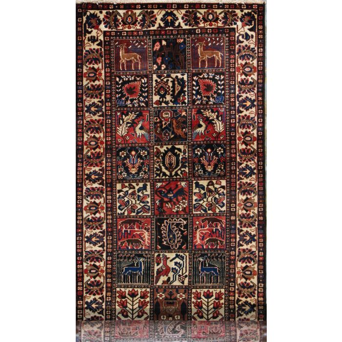 "https://www.armanrugs.com/ | 3' 9"" x 11' 8"" Brown Bakhtiari Hand Knotted Wool Authentic Persian Rug"