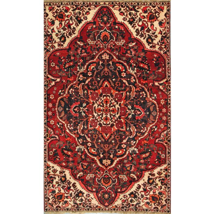 "https://www.armanrugs.com/ | 5' 2"" x 8' 8"" Red Bakhtiari Hand Knotted Wool Authentic Persian Rug"