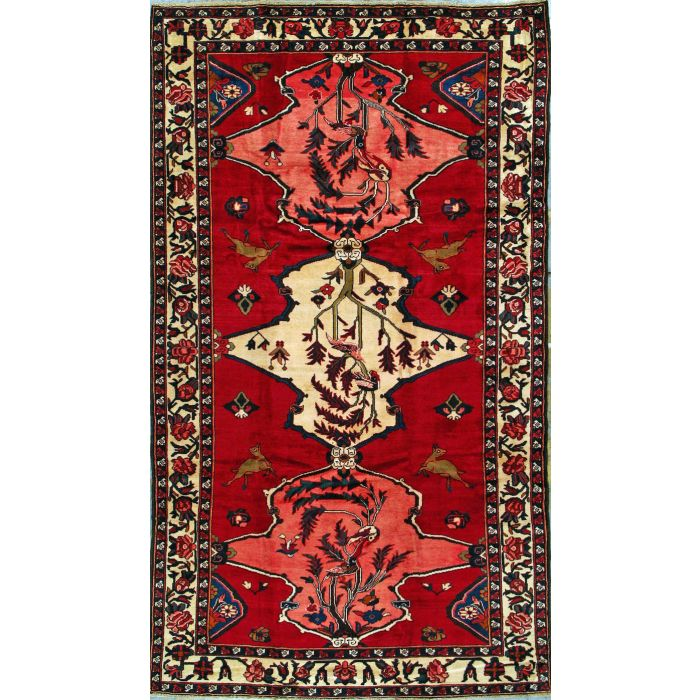 "https://www.armanrugs.com/ | 5' 11"" x 10' 4"" Red Bakhtiari Hand Knotted Wool Authentic Persian Rug"