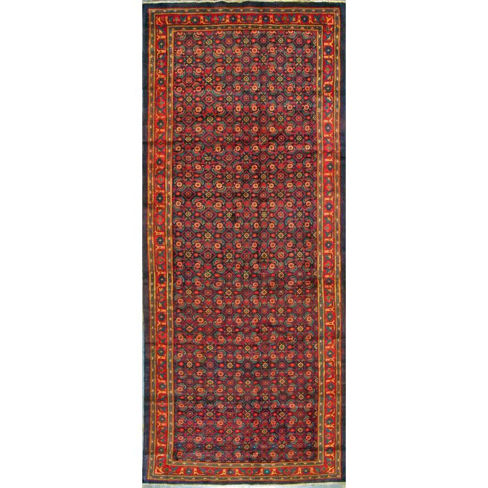 "https://www.armanrugs.com/ | 5' 8"" x 13' 7"" Blue Meshkabad Hand Knotted Wool Authentic Persian Rug"