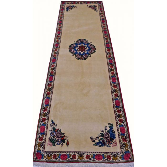 "https://www.armanrugs.com/ | 3' 4"" x 11'   Beige Bakhtiari Hand Knotted Wool Authentic Persian Rug"