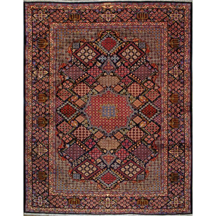 """https://www.armanrugs.com/   9' 10"""" x 12' 8"""" Navy Blue Esfahan Hand Knotted Wool Authentic Persian Rug"""