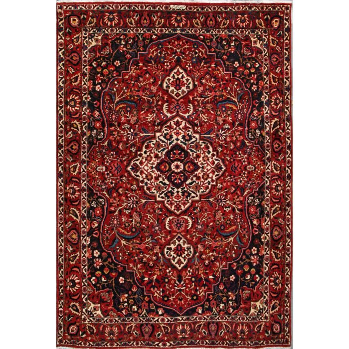 """https://www.armanrugs.com/   6' 10"""" x 10' 3"""" Red Bakhtiari Hand Knotted Wool Authentic Persian Rug"""