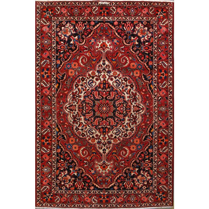 "https://www.armanrugs.com/ | 7' 1"" x 10' 11"" Red Bakhtiari Hand Knotted Wool Authentic Persian Rug"