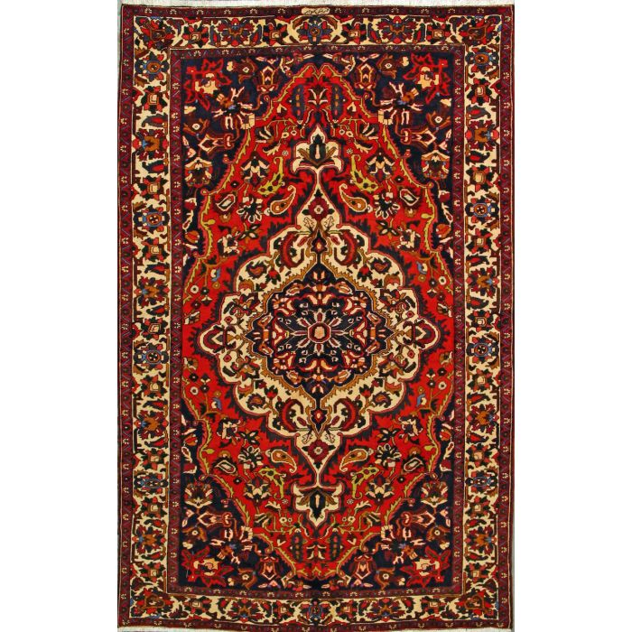 "https://www.armanrugs.com/ | 6' 3"" x 10' 0"" Red Bakhtiari Hand Knotted Wool Authentic Persian Rug"