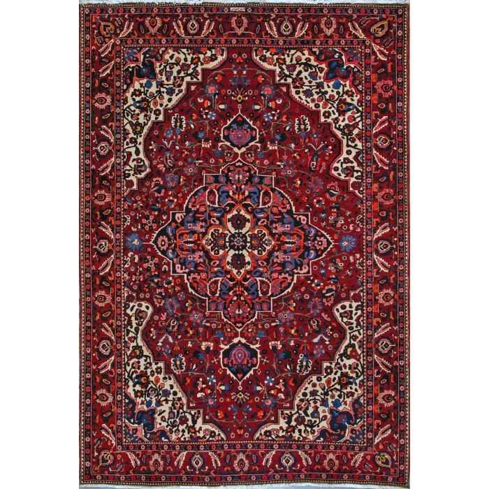 "https://www.armanrugs.com/ | 7' 0"" x 10' 4"" Red Bakhtiari Hand Knotted Wool Authentic Persian Rug"