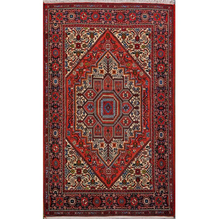 "https://www.armanrugs.com/ | 3' 3"" x 5' 5"" Brown Bijar Hand Knotted Wool Authentic Persian Rug"