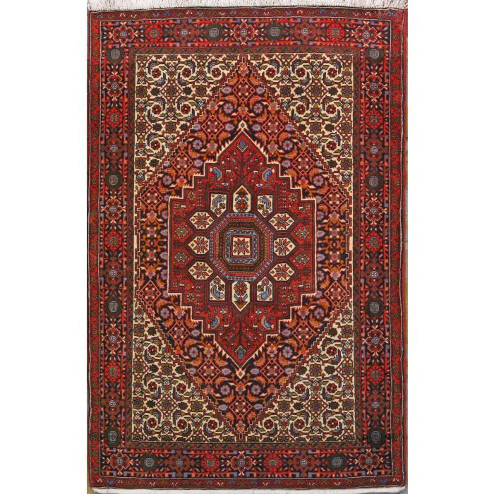 """https://www.armanrugs.com/   3' 3"""" x 4' 11"""" Brown Bijar Hand Knotted Wool Authentic Persian Rug"""