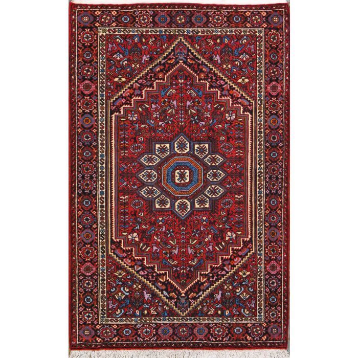 "https://www.armanrugs.com/ | 2' 6"" x 4' 1"" Brown Bijar Hand Knotted Wool Authentic Persian Rug"
