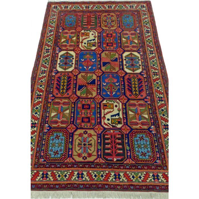 "https://www.armanrugs.com/ | 4' 11"" x 8' 0"" Red bakhtiari Handmade Wool Authentic Persian Rug"