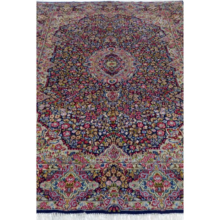 "https://www.armanrugs.com/ | 7' 10"" x 10' 8"" NavyBlue kerman Handmade Wool Authentic Persian Rug"
