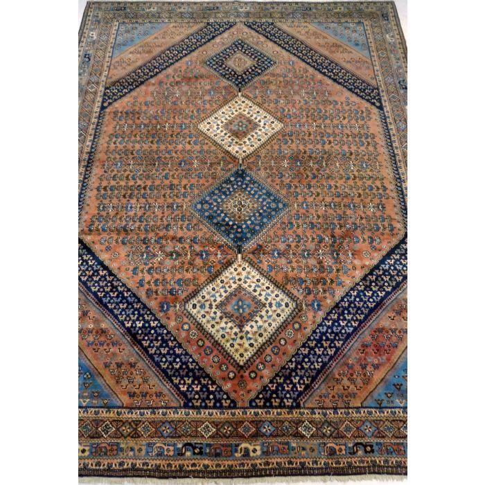 "https://www.armanrugs.com/ | 8' 3"" x 11' 6"" RustRed Yalameh Handmade Wool Authentic Persian Rug"