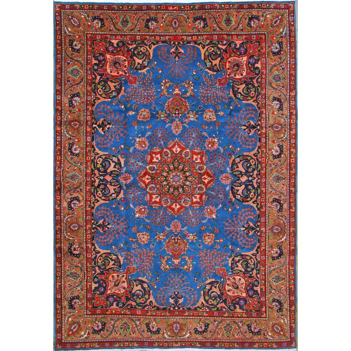 "https://www.armanrugs.com/ | 8' 0"" x 11' 5"" Blue kashmar Hand Knotted Wool Authentic Persian Rug"
