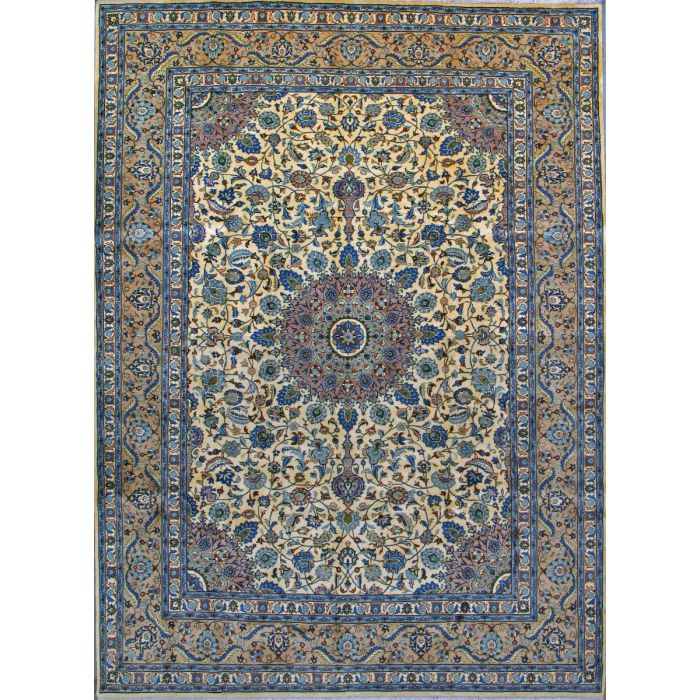 """https://www.armanrugs.com/   8' 2"""" x 11' 1"""" Beige kashmar Hand Knotted Wool Authentic Persian Rug"""