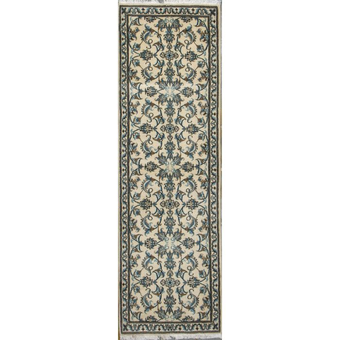 "https://www.armanrugs.com/ | 2' 7"" x 8' 0"" Beige Nain Hand Knotted Wool Authentic Persian Rug"